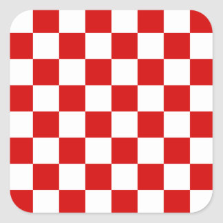 Motif rouge et blanc de contrôleur sticker carré