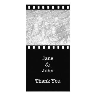 Movie Film Wedding Theme Photo Thank You Customized Photo Card