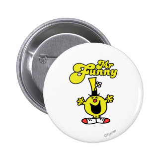 Mr. Funny Laughing Hysterically 2 Inch Round Button