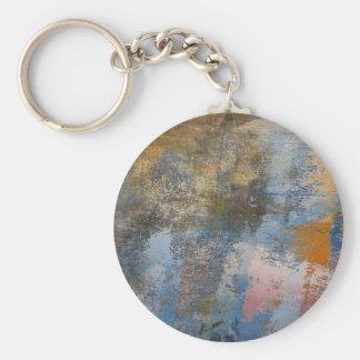 Mulberry on Concrete Basic Round Button Keychain