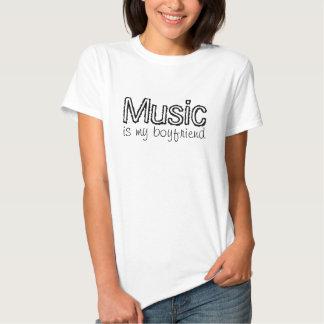 Music is my boyfriend t-shirts