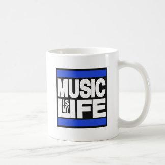 Music is My Life Blue Classic White Coffee Mug