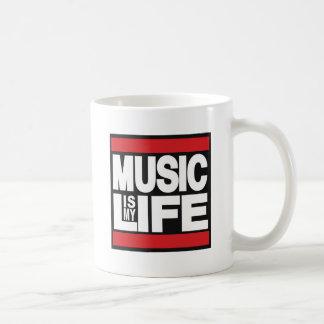 Music is my life Red Classic White Coffee Mug