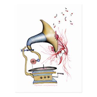 musique de chat de jazz, fernandes élégants cartes postales