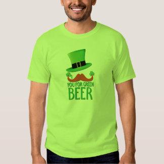 mustache you for green beer ginger mustache clover tshirt