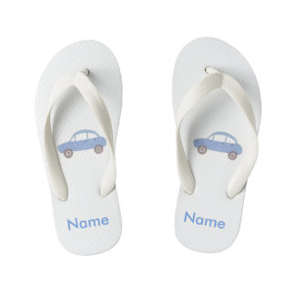 My Blue Car Kid's Flip Flops