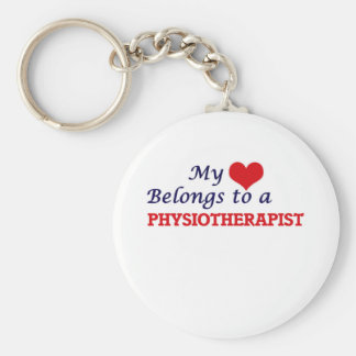 My heart belongs to a Physiotherapist Basic Round Button Keychain