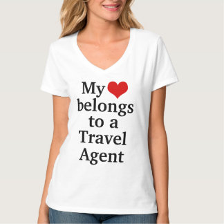 My heart belongs to a travel agent t-shirts