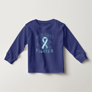 My Husband is a Fighter Light Blue T Shirts