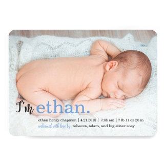 MY NAME Modern Birth Announcements