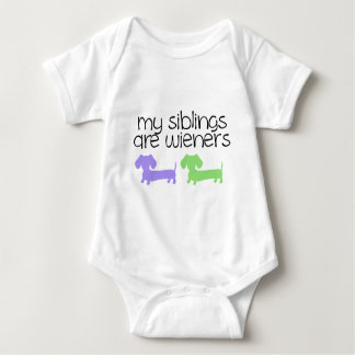 My Siblings are Wieners | 2 Dachshunds design Shirts