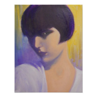MYSTERIOUS ART DECO LADY POSTER