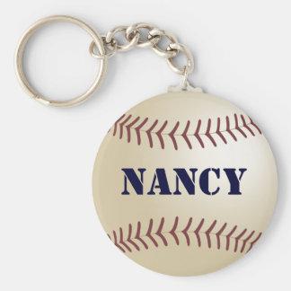 Nancy Baseball Keychain by 369MyName