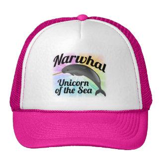 Narwhal Unicorn of the Sea, Cute Rainbow Trucker Hat
