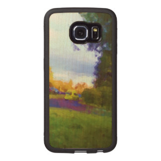 Nature and car photo wood phone case