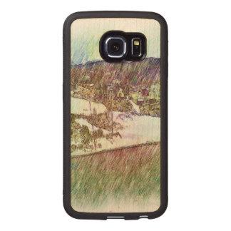 Nature photo paint wood phone case