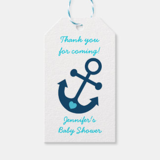 Nautical Anchor Party Favor Tags Pack Of Gift Tags