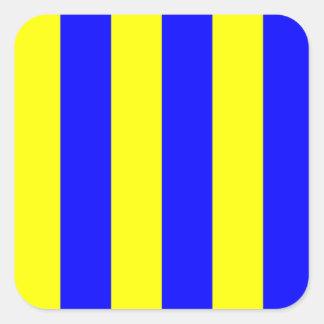 Nautical Marine Signal Flag Letter G (Golf) Square Sticker