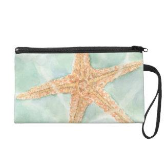 Nautical Starfish in Water Wristlets