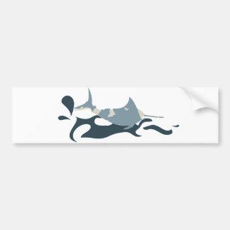 nc 0412 Blue Marlin Bumper Sticker