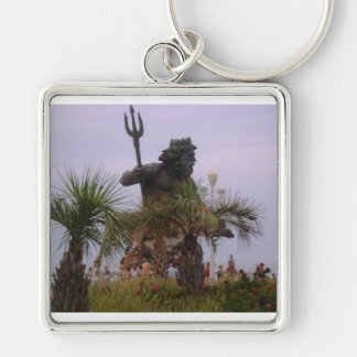 Neptune palms Silver-Colored square keychain
