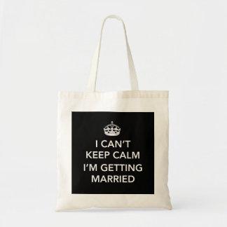 Nervous Bride or Groom Budget Tote Bag