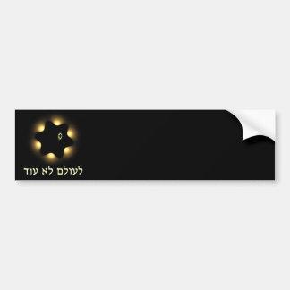 Never Again Fractal Star Of David Bumper Sticker