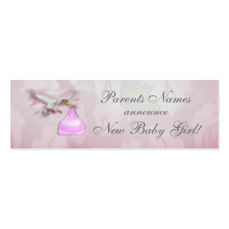 New Baby Girl Announcement Mini Business Card