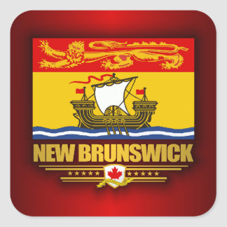 New Brunswick Flag Square Sticker