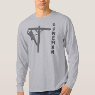new gray lineman, LINEMAN Tshirt
