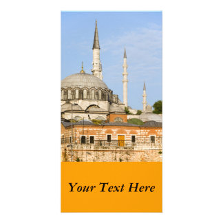 New Mosque and Egyptian Market in Istanbul Photo Card Template