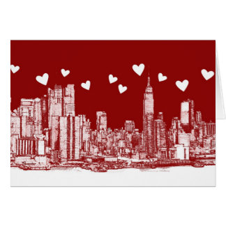 New York red hearts Note Card