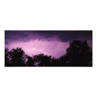 Night Time Summer Lightning Photographic Print