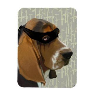 Ninja Basset Hound Dog Rectangular Photo Magnet
