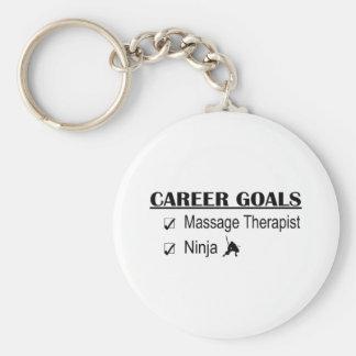 Ninja Career Goals - Massage Therapist Basic Round Button Keychain