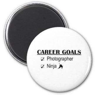 Ninja Career Goals - Photographer 2 Inch Round Magnet