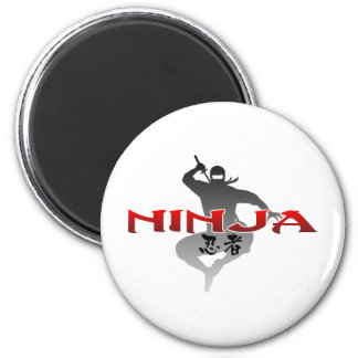 Ninja Silhouette 2 Inch Round Magnet