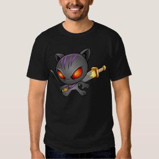 Ninja Warrior Kitten T-Shirt