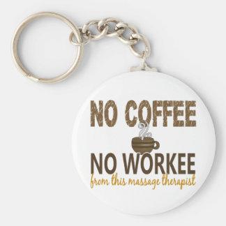 No Coffee No Workee Massage Therapist Basic Round Button Keychain