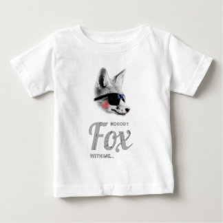 Nobody Fox With Me Animal Sunglasses Funny Shirt