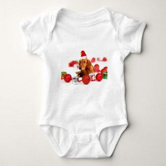 Noël rouge de chapeau du chien W Père Noël de Tee Shirts