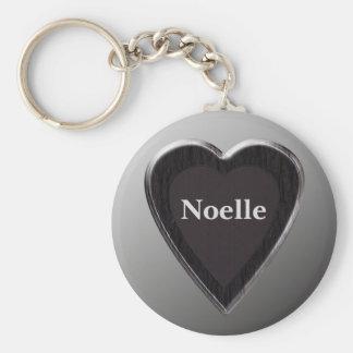Noelle Heart Keychain by 369MyName
