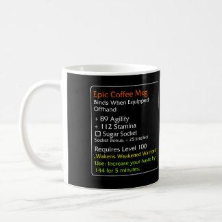 Noir épique de tasse de café