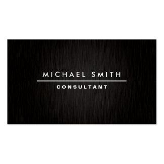 Noir simple simple moderne élégant professionnel carte de visite standard