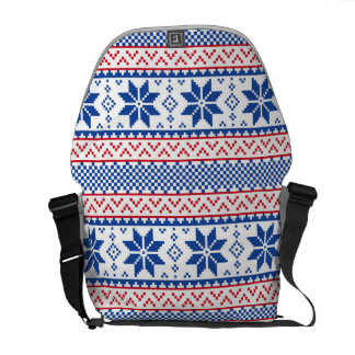 Nordic Snowflakes Christmas Pattern Commuter Bag
