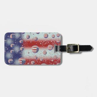 North America, USA, WA, Redmond, U.S. Flag Travel Bag Tag