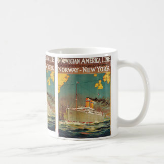 Norwegian American Line Classic White Coffee Mug