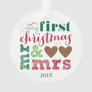 Notre tout premier Noël comme M. et Mme Ornament