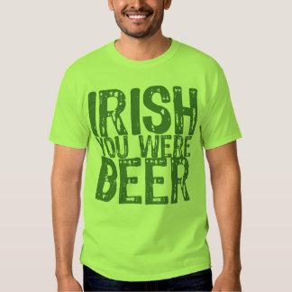 NSPBdtxt Irish You Were Beer Green T-Shirt