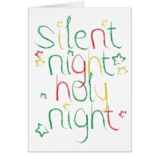 Nuit sainte de nuit silencieuse à Noël Carte De Vœux